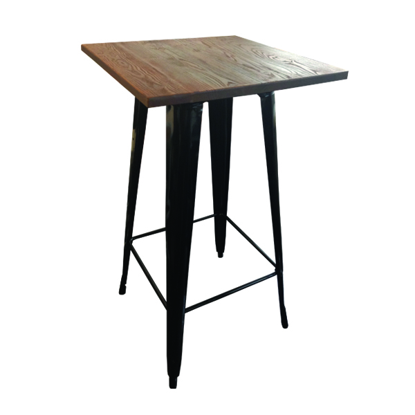 Cafe Industrial Solid Wood Bar Table