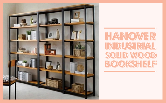 The Hangover Industrial Solid Wood Bookshelf