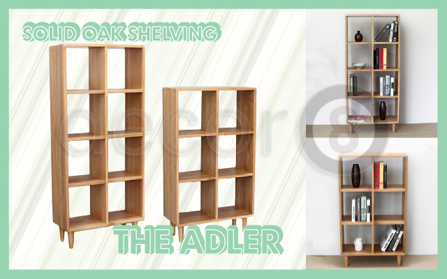 Solid Oak Shelving-The Adler
