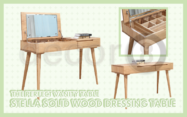 The Perfect Vanity Table - Stella Solid Wood Dressing Table