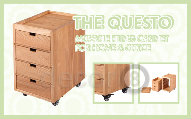 The Questo Movable Filing Cabinet for Home & Office