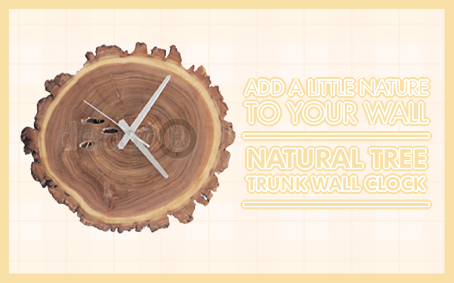 Add a Little Nature To Your Wall: Natural Tree Trunk Wall Clock