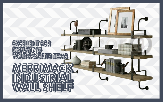 Merrimack Industrial Wall Shelf Excellent for Displaying Your Favorite Items