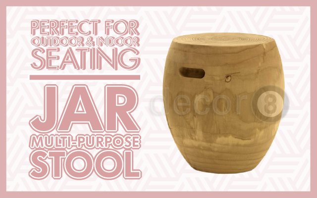 Perfect For Outdoor & Indoor Seating: Jar Multi-Purpose Stool