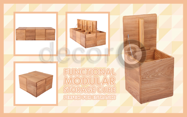 Functional Modular Storage Cube Perfect For Entrance