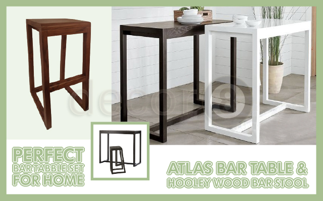 Perfect Bar table set for Home- Atlas Bar Table & Holley Wood Barstool