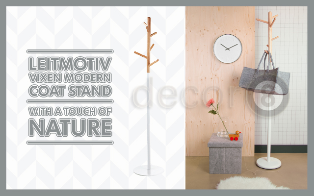 Leitmotiv Vixen Modern Coat Stand With A Touch Of Nature