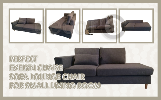 Perfect Evelyn Chaise Sofa Lounge Chair For Small Living Room