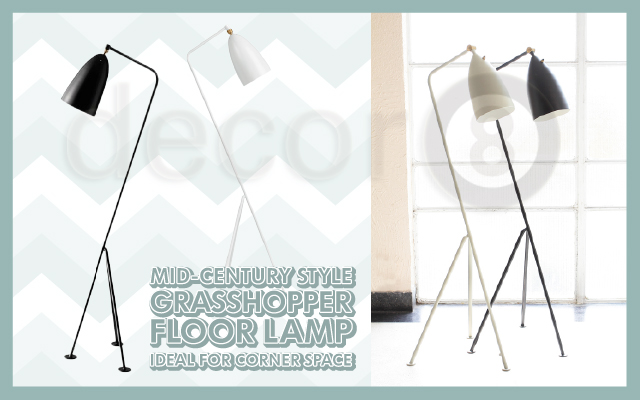 Mid-Century Style Grasshopper Floor Lamp Ideal For Corner Space