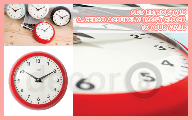 Add Retro Style A.Cercoo Acsukslm 1960's Clock To Your Wall