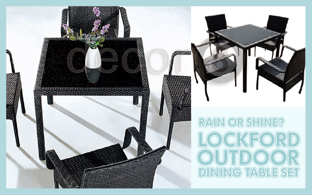 Rain or Shine- Lockford Outdoor Dining Table Set