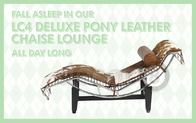 Fall Asleep In Our LC4 Deluxe Pony Leather Chaise Lounge All Day Long