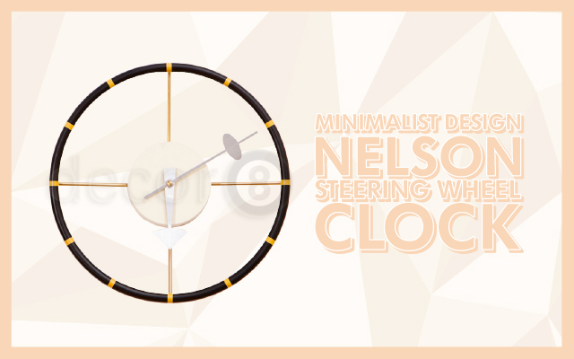 Minimalist Design Nelson Steering Wheel Clock