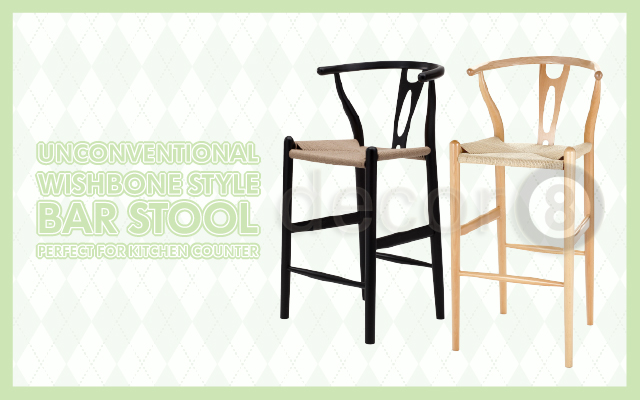 Unconventional Wishbone Style Bar stool Perfect For Kitchen Counter