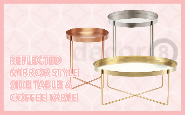 Reflected Mirror Style Side Table & Coffee Table