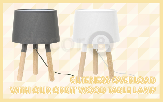 Cuteness Overload With Our Orbit Wood Table Lamp