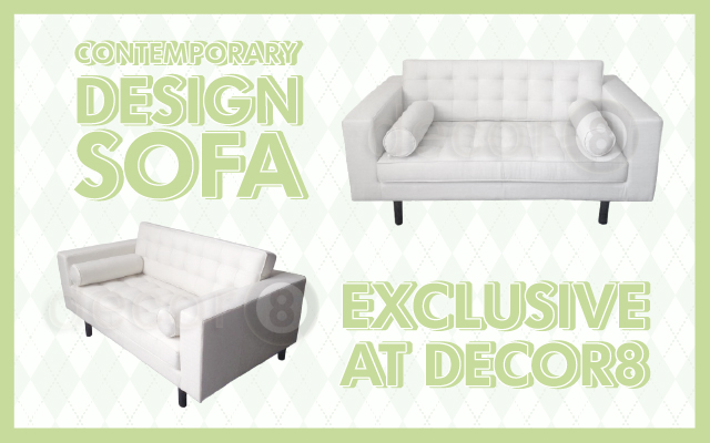Contemporary Design Sofa- Exclusive At Decor8