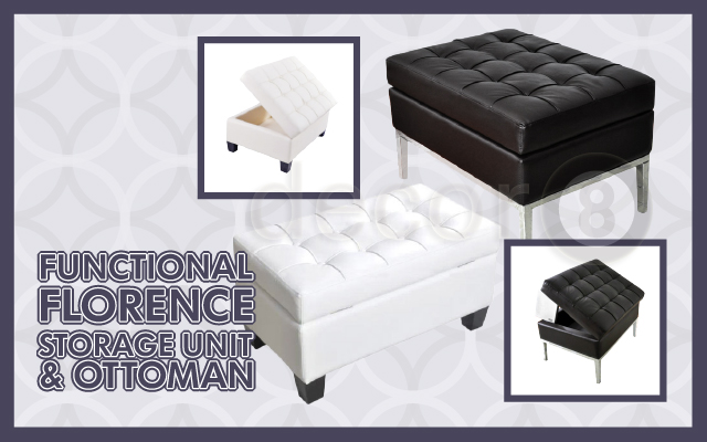 Functional Florence Storage Unit & Ottoman