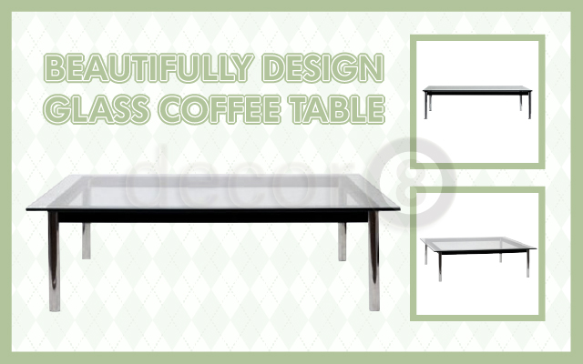 Beautifully Design Glass Coffee Table