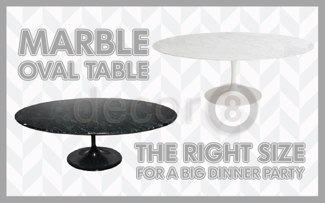 Marble Oval Table - The Right Size For A Big Dinner Party