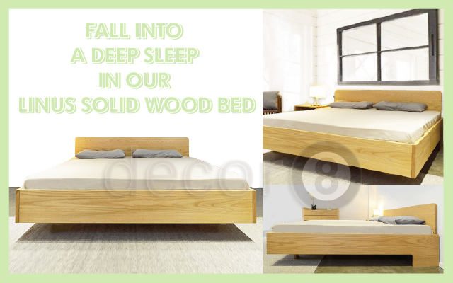 Fall Into A Deep Sleep In Our Linus Solid Wood Bed