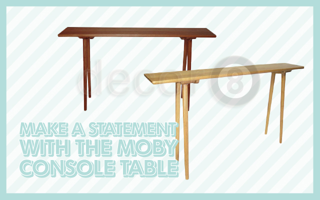 Make A Statement with The Moby Console Table