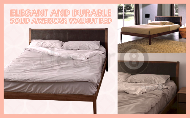 Elegant And Durable Solid American Walnut Bed