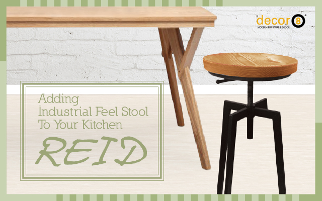 Adding Industrial Feel Stool To Your Kitchen