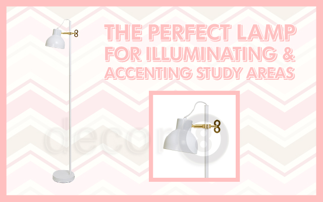 The Perfect Lamp For Illuminating & Accenting Study Areas