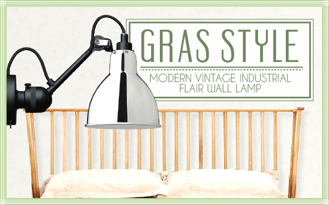 Modern Vintage Industrial Flair Wall Lamp