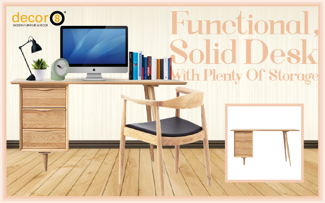 Functional, Solid Desk With Plenty Of Storage