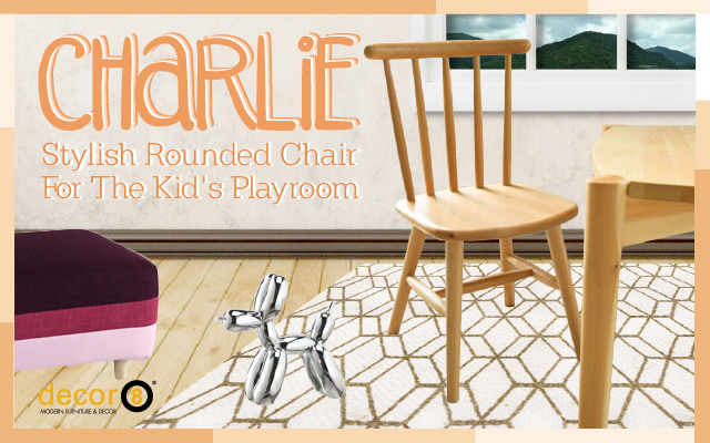 Stylish Rounded Chair For The Kid's Playroom