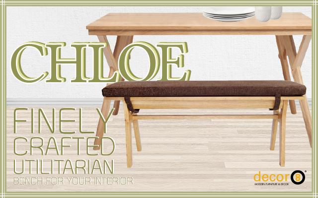Finely Crafted Utilitarian Bench For Your Interior