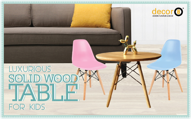 Luxurious Solid Wood Table For Kids