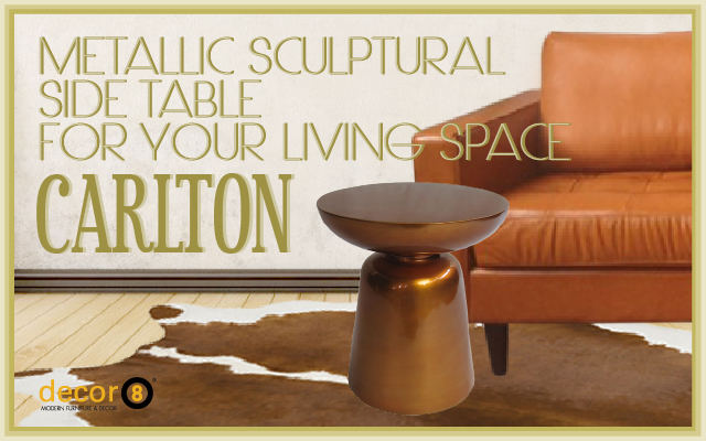 Metallic Sculptural Side Table For Your Living Space