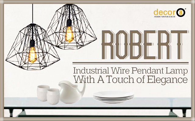 Robert Industrial Wire Pendant Lamp With A Touch of Elegance
