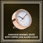 Karlsson Minimal White with Copper Case Alarm Clock