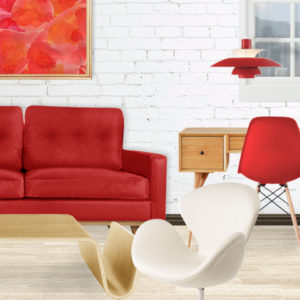 Red Hoover Sofa